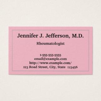 Basic Rheumatologist Business Card