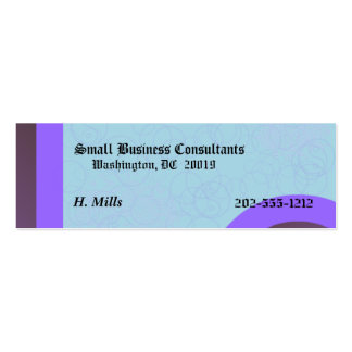 Basic Small Buisness Card Pack Of Skinny Business Cards