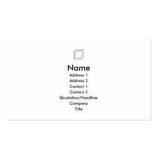 Basic - Squares - Black Double-Sided Standard Business Cards (Pack Of 100)