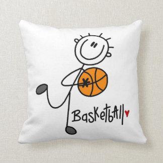 Basic Stick Figure Basketball T-shirts and Gifts Cushion