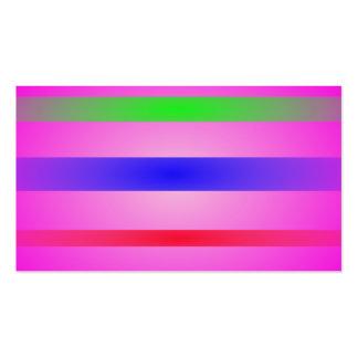 Basic Stripes Art Pink Business Card Templates