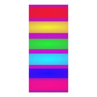 Basic Stripes Art Customized Rack Card