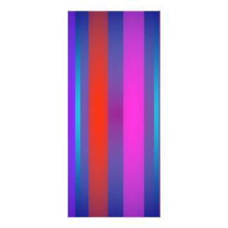 Basic Stripes Complex Customized Rack Card