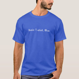 Basic T-shirt, Blue T-Shirt