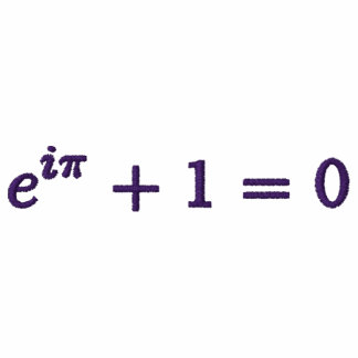 Basic T-Shirt: Euler's identity small, purple
