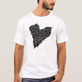 Basic tea, Shattered, Heart, Abstract T-Shirt