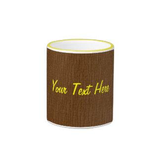 Basic Umber, Your Text Here Ringer Mug