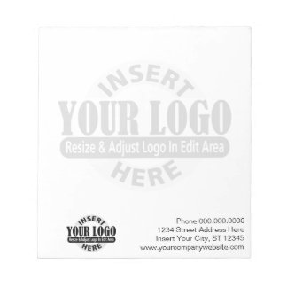 Basic with Business Logo in Background Notepad