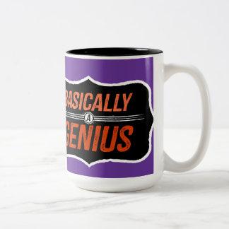 Basically A Genius (for Christie) Two-Tone Mug