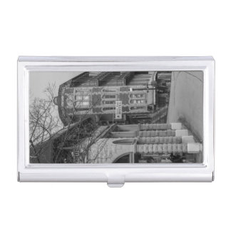 Basin Park And Flatiron Flats Grayscale Business Card Cases