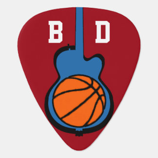 basket-ball & guitar, personalized sport guitar pick
