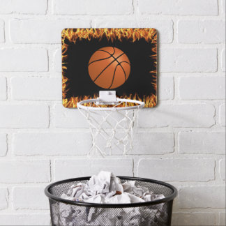 Basket ball in the fire mini basketball hoop