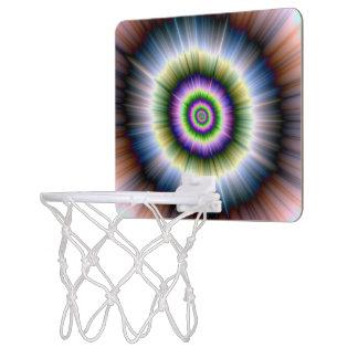 Basket Ball Net  Exploding Blue Green and Pink Mini Basketball Hoop