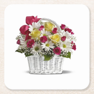 Basket boquet Square Coasters