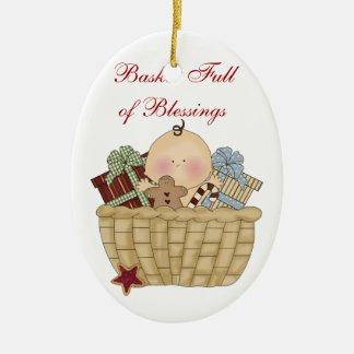 Basket Full of Blessings Christmas Ornament