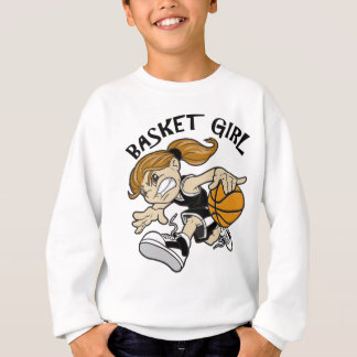 BASKET GIRL BLACK SWEATSHIRT