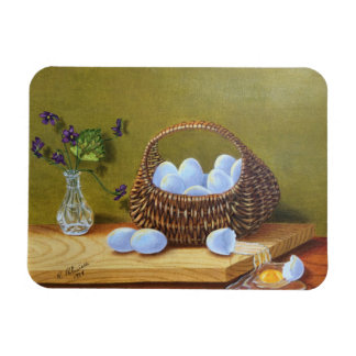 Basket of Eggs with Violets Magnet