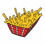 basket of french fries cut out