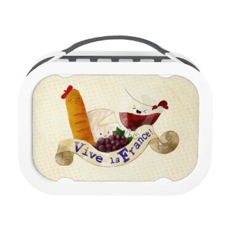 Basket of French Treats Lunch Boxes