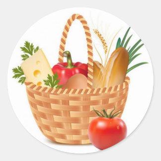 Basket Of Goodness Classic Round Sticker