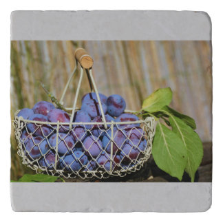 Basket of Purple Plums Trivet