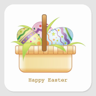 Basket with Easter eggs Sticker