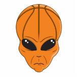 basketball alien head photo cut out