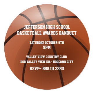 Basketball Awards Banquet Invitation