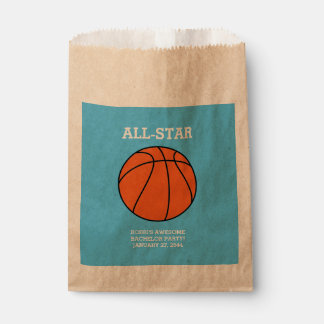 Basketball Bachelor Party Favor Bags Favour Bags