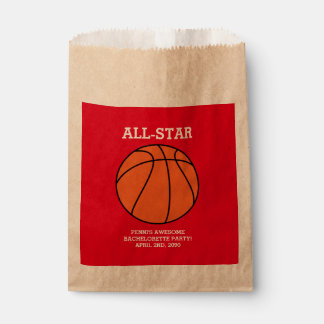 Basketball Bachelorette Party Favor Bags Favour Bags