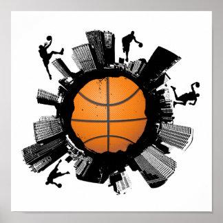 Basketball City Poster