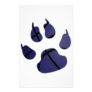 Basketball Claw In The Color Blue Stationery