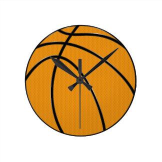 Basketball Round Wall Clock