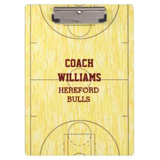 Basketball Court Personalised Clipboard