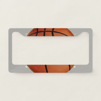 Basketball Design License Plate Frame