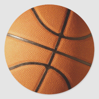 Basketball Design Round Sticker