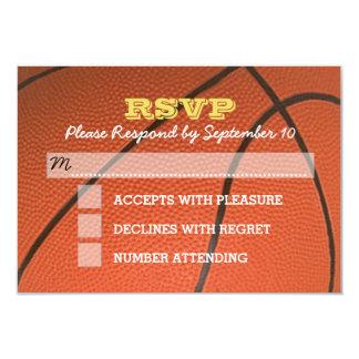 Basketball Gold Bar Mitzvah RSVP Card 9 Cm X 13 Cm Invitation Card