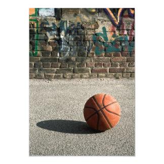 Basketball & Graffiti 13 Cm X 18 Cm Invitation Card