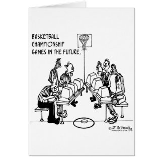 Basketball in the Future Greeting Card