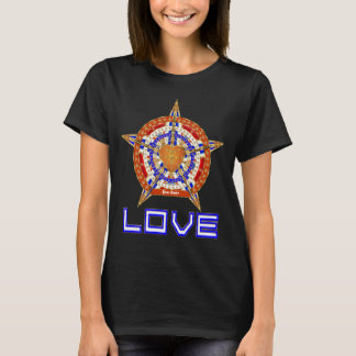 Basketball Love Womens Front Only Dark Only T-Shirt