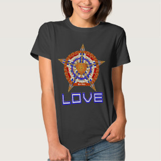 Basketball Love Womens Front Only Dark Only Tee Shirt