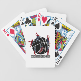 Basketball never stops bicycle playing cards
