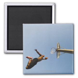 Basketball player 2 square magnet