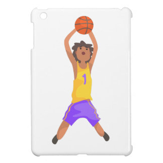 Basketball Player Jumping And Throwing Action Stic iPad Mini Cases