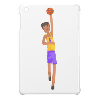 Basketball Player With The Ball Action Sticker iPad Mini Cover