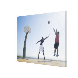 Basketball players 3 canvas print