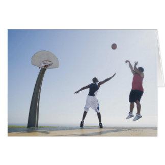 Basketball players 3 greeting card