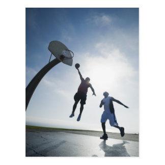 Basketball players 5 postcard