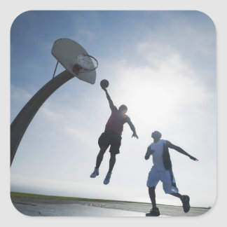 Basketball players 5 square sticker