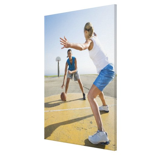 Basketball players 6 stretched canvas prints